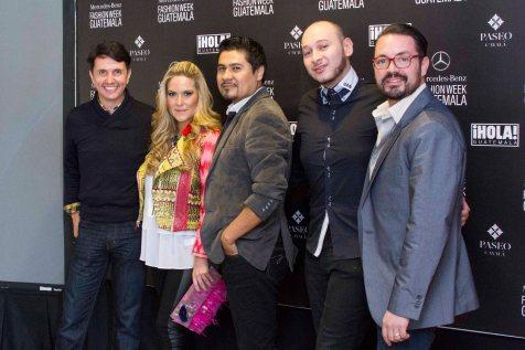 Diseñadores Eduardo Figueroa, Thelma Espina, Imer Hernán, Antonio Dubois y Maurcio Samayoa