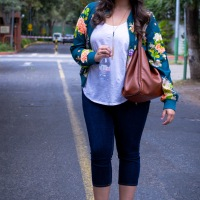 DRESS FOR LESS: Floral print bomper jacket